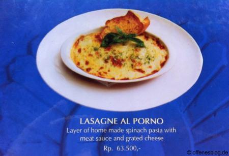 Lasagne al Porno