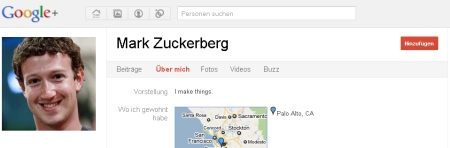Zuckerberg Google+