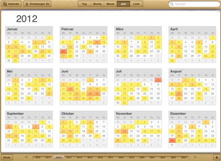 Brückentage Kalender 2012