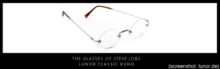 Steve Jobs Lunor Brille