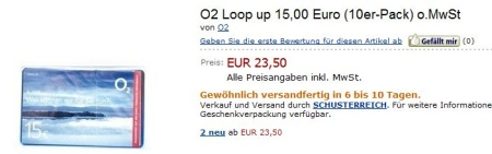 amazon.de o2 Loop up