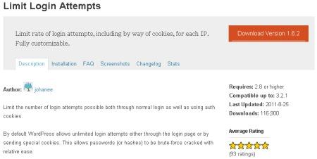 Limit Login Attempts WP Plugin