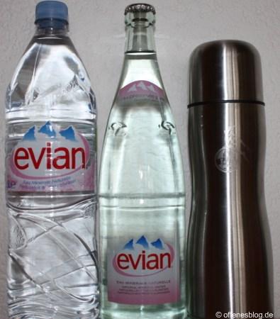 Plastikflasche - Glasflasche - Thermoskanne
