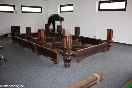 Snookertisch Aufbau