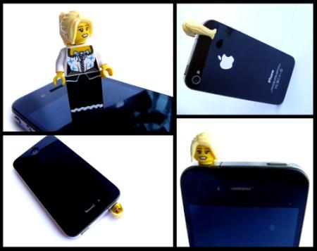 Lego Dirndl als iPhone Dock-Schutz und Card-Slide-Opener