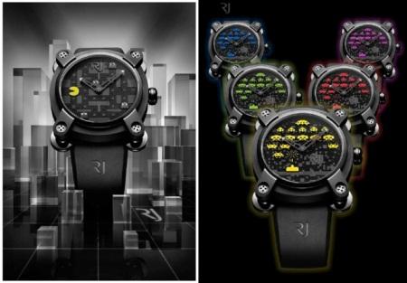 Pacman und Space Invaders Uhr von Romain Jerome