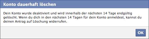 Facebook löschen