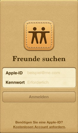 Freunde App Startbildschirm