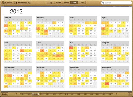 Brückentage Kalender 2013