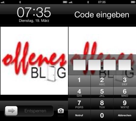 iPhone Sperrbildschirm
