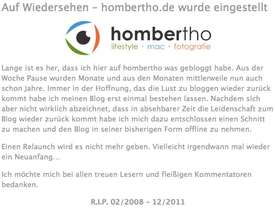 R.I.P. hombertho.de