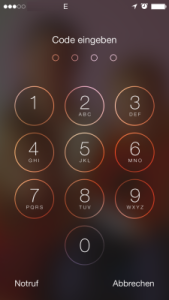 iOS 7 iPhone Sperre Code