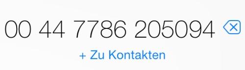 iPhone UK 00447786205094 Telefonnummer