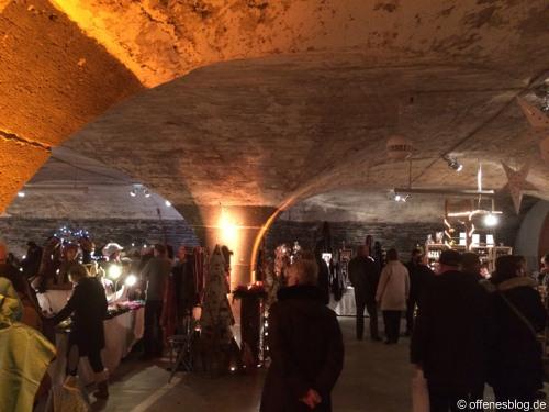 Mosel-Wein-Nachts-Markt Foto - orange Beleuchtung