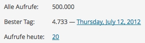 offenesblog.de 500000 Seitenaufrufe