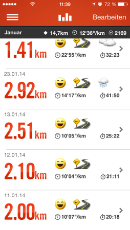 Nike+ Strecke