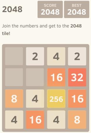2048 Spiel von Gabriele Cirulli