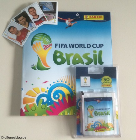 Panini Stickeralbum WM 2014 in Brasilien