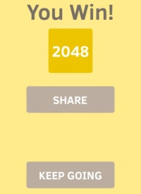 You win 2048 - share