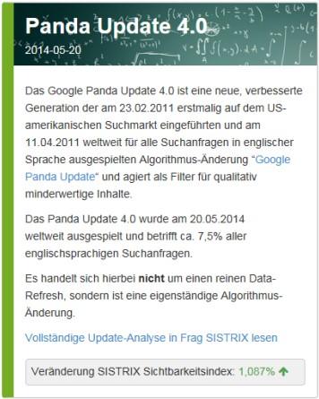 Sistrix Panda 4.0