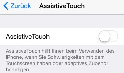 Apple Assistive Touch