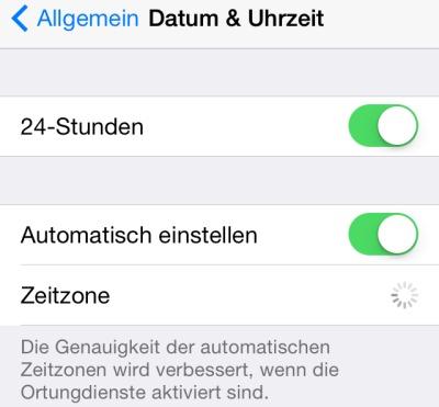 iPhone Datum & Uhrzeit Automatisch einstellen