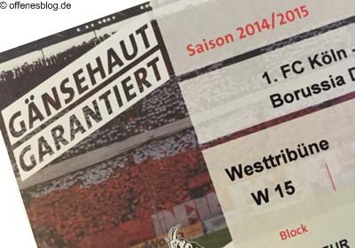FC-Tickets Köln Dortmund