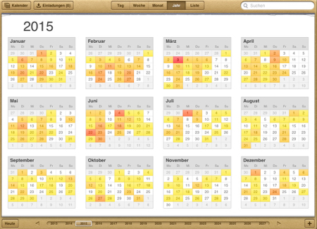 Brückentage Kalender 2015