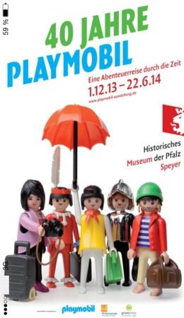 40 Jahre PLAYMOBIL - App Startbildschirm zur Ausstellung