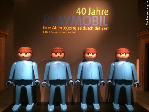 40 Jahre PLAYMOBIL - Beginn der Ausstellung