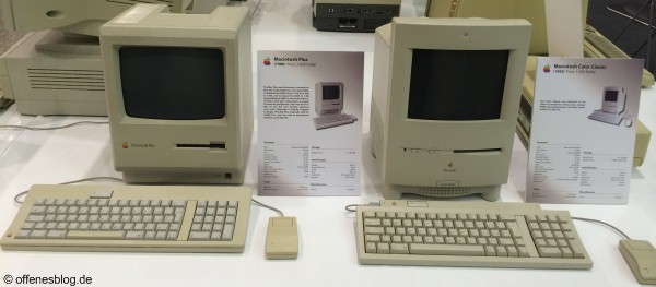 Macintosh Plus (1986) Macintosh Color Classic (1993)