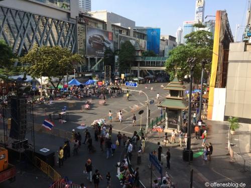 Bangkok - Shutdown 2014 - leere Straßen