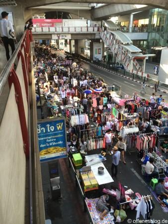 Bangkok - Shutdown 2014 - Einkaufsstraßen am Tag