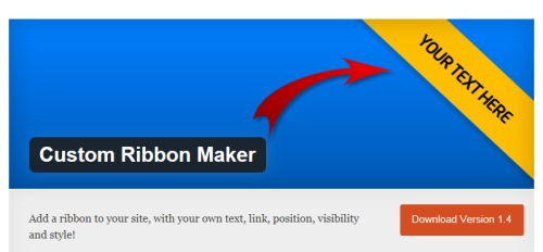 Custom Ribbon Maker WordPress Plugin