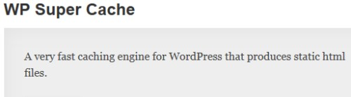WP Super Cache WordPress.com Plugin
