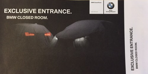 BMW Exclusive Entrance - Closed Room