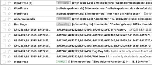WordPress Kommentare bei Gmail als Spam markiert