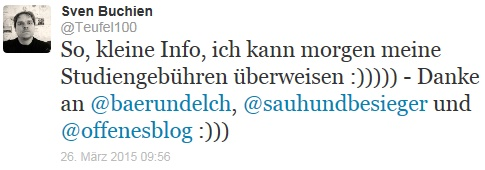 Sven Studium Tweet