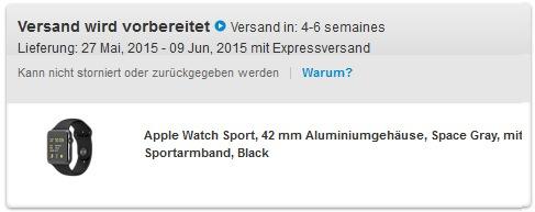 Apple Watch Versand wird vorbereitet