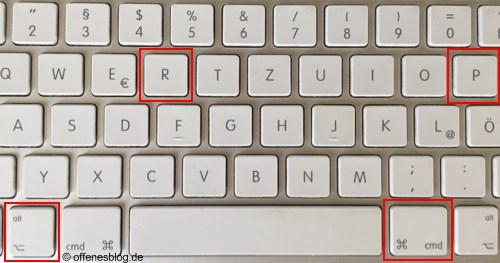 PRAM-Reset für iMac und MacBook