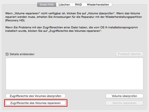 Volume reparieren für iMac und MacBook