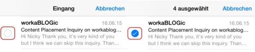 iPhone Mail anticken