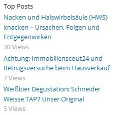 WP Stats Top Post