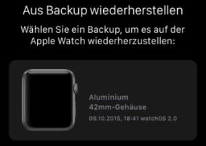 Apple Watch gekoppelt