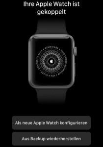 Apple Watch gekoppelt