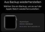 Apple Watch Daten iPhone