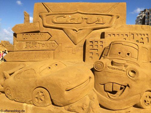Sandskulpturen Cars