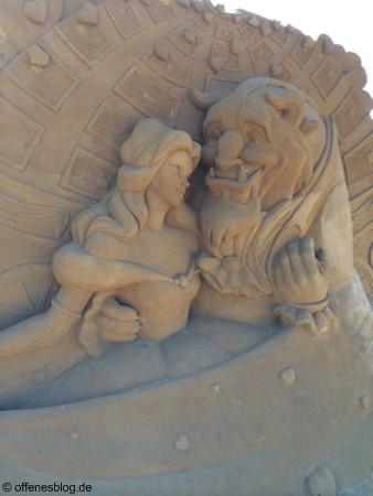 Sandskulpturen Die Schöne und das Biest