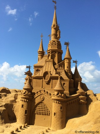 Sandskulpturen Disney Schloss