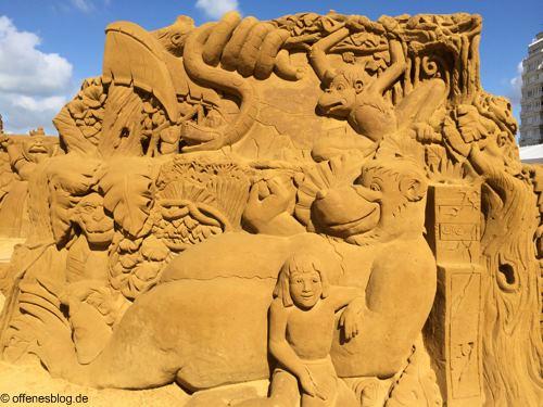 Sandskulpturen Dschungelbuch